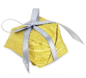 Bem Casado Papel Dourado e Laço N1 cod7