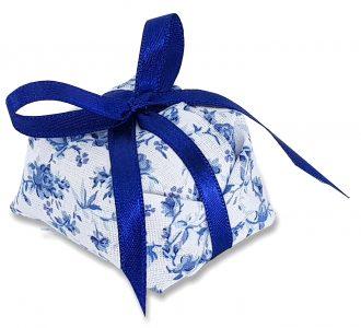 Bem Casado Tecido Floral e Laço N1 cod4